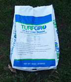 bag of fertilizer and seed