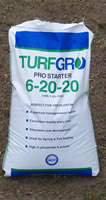 bag of grass fertilizer