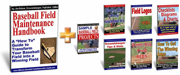 buy the baseball field maintenance handbook and bonus guides