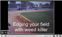 edge with weed killer