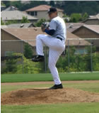 pitching at MLB camp
