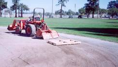 tractor dragging