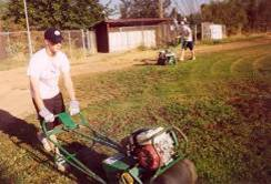 aerating a baseball field