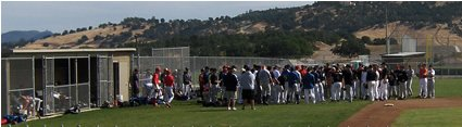 players at an MLB tryout